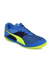 PUMA Men Blue Printed Indoor Football Shoes