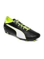 PUMA Men Black & White Safety Football Shoes