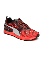 Puma Men Black & Red Running Shoes