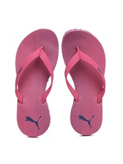 PUMA Women Pink & Blue Ribbons IDP Striped Flip-Flops