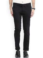 Mufti Black Pencil Fit Chino Trousers