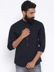 Wrangler Black Printed Slim Fit Casual Shirt