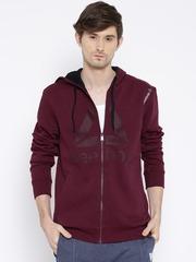 Reebok Maroon ATHLETC HDY Hooded Training Sweatshirt