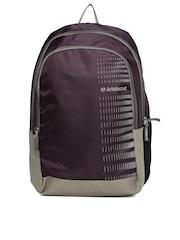 Aristocrat Unisex Purple & Grey Backpack
