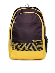 Aristocrat Unisex Purple & Yellow Backpack