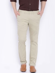 Indian Terrain Men Beige Brooklyn Slim Fit Chinos