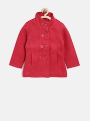 612 League Girls Red Double-Breasted Pea Coat