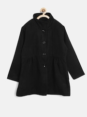 612 league Girls Black Coat