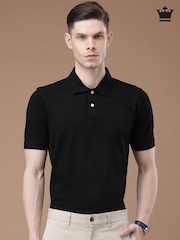 Louis Philippe Black Polo T-shirt