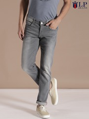 Louis Philippe Jeans Grey Matt Slim Fit Jeans