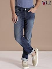 Louis Philippe Jeans Blue Matt Slim Fit Jeans
