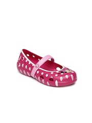 Crocs Girls Pink Polka Dot Print Sandals