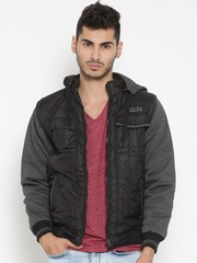 Fort Collins Black Padded Jacket with Detachable Hood & Sleeves