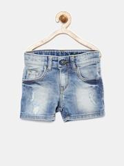 United Colors of Benetton Infant Boys Blue Washed Denim Shorts
