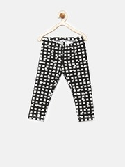 United Colors of Benetton Girls Black & White Printed Leggings