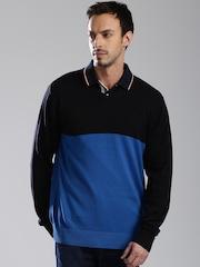 HRX by Hrithik Roshan Men Blue Colourblocked Sweater