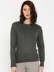 HRX by Hrithik Roshan Charcoal Grey Sweater