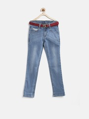 United Colors of Benetton Boys Blue Washed Jeans