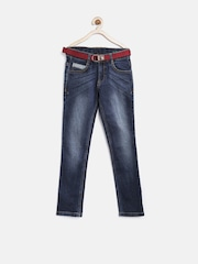 United Colors of Benetton Boys Navy Washed Jeans