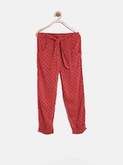 United Colors of Benetton Girls Red Polka Dot Print Lounge Pants 16A4WBOT0064I-902