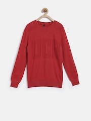 United Colors of Benetton Boys Red Sweater