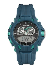 Sonata Men Grey Analogue & Digital Chronograph Watch 77045PP01