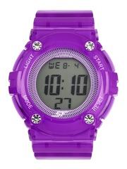 Sonata Ocean Series Women Purple Digital Watch 77042PP06