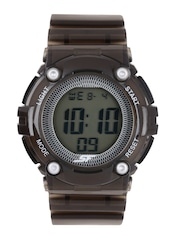 Sonata Ocean Series Women Black Digital Watch 77030PP08