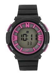 Sonata Ocean Series Women Black Digital Watch 87016PP01
