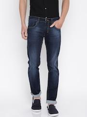 Park Avenue Men Blue Tapered Fit Low-Rise Clean Look Jeans