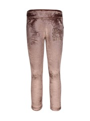 CUTECUMBER Girls Brown Ankle-Length Jeggings with Embellished Detail