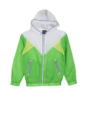 Lilliput Boys Green & White Hooded Jacket