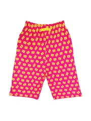 SWEET ANGEL Girls Pink Printed Shorts
