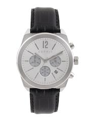 ESPRIT Men Silver-Toned Chronograph Dial Watch ES107571001