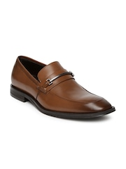 Kenneth Cole Men Brown Leather Slip-Ons