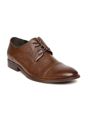 Kenneth Cole Reaction Men Brown Leather Formal Shoes
