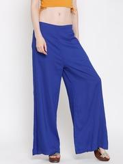 Fusion Beats Women Blue Palazzo Trousers