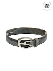 Roadster Men Grey & Blue Genuine Leather Belt