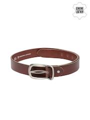 Roadster Men Brown Genuine Leather Belt