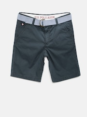 U.S. Polo Assn. Kids Boys Grey Chino Shorts