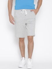 Undercolors of Benetton Men Grey Melange Solid Regular Fit Shorts