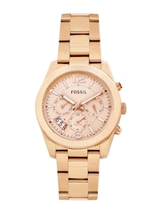 Fossil Women Rose Gold-Toned Dial Watch ES3885I