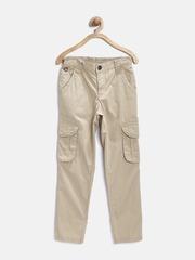 U.S. Polo Assn. Kids Boys Khaki Cargo Trousers