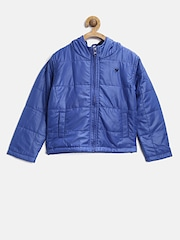 612 league Boys Blue Hooded Jacket