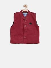 612 League Boys Maroon Nehru Jacket