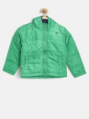612 League Boys Green Hooded Jacket
