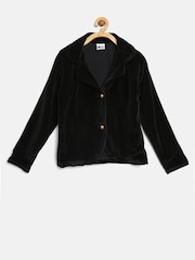 612 league Girls Black Single-Breasted Blazer