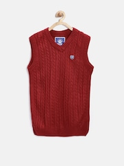 612 league Boys Red Cable Knit Sweater