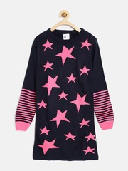 612 league Girls Navy Sweater Dress