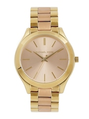 Michael Kors Women Rose Gold-Toned Dial Watch MK3493I